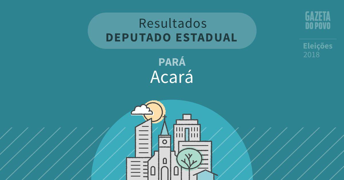 Resultados para Deputado Estadual no Pará em Acará (PA)