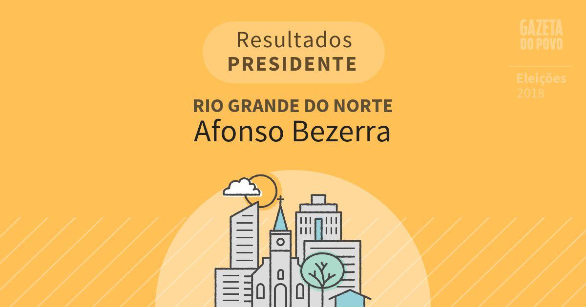 Resultados para Presidente no Rio Grande do Norte em Afonso Bezerra (RN)
