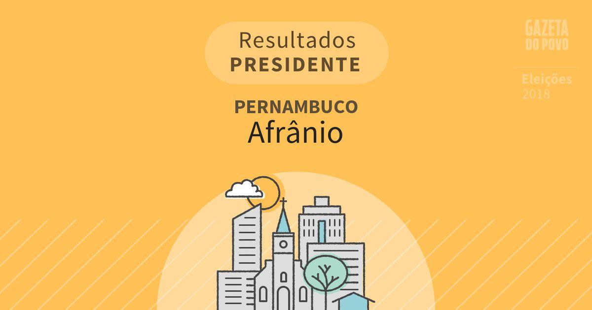 Resultados para Presidente em Pernambuco em Afrânio (PE)