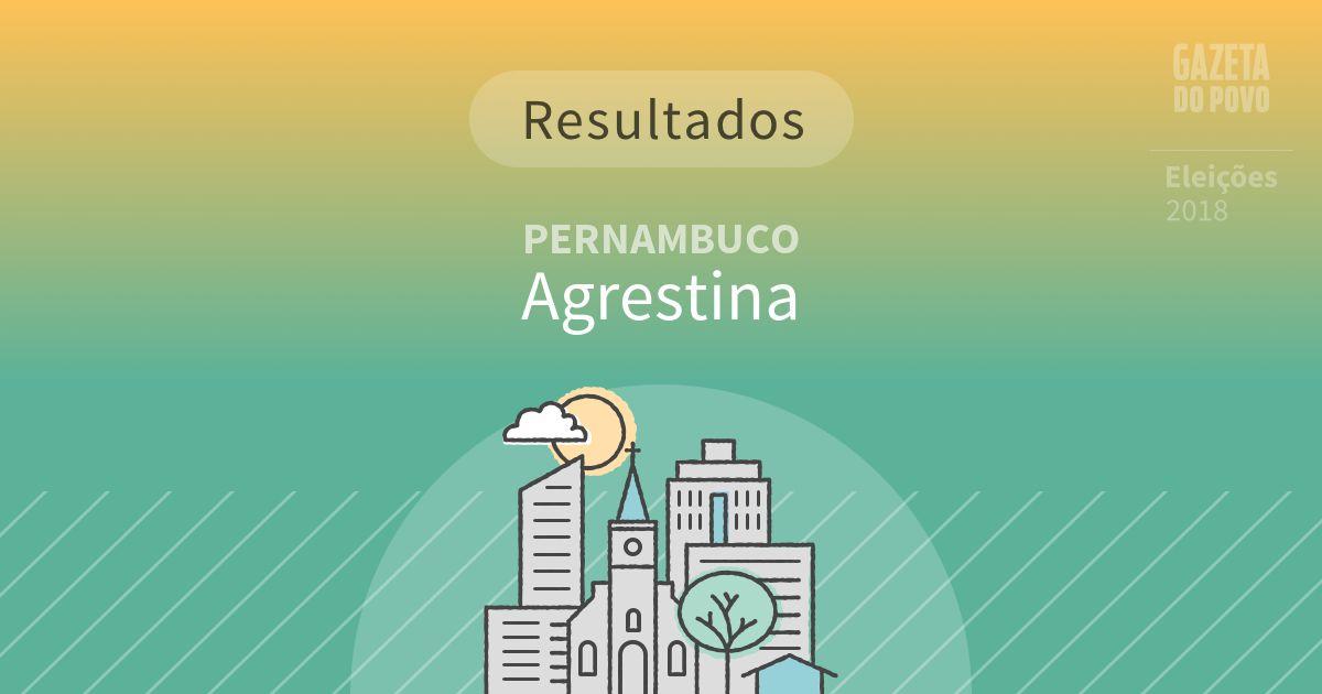 Resultados da votação em Agrestina (PE)