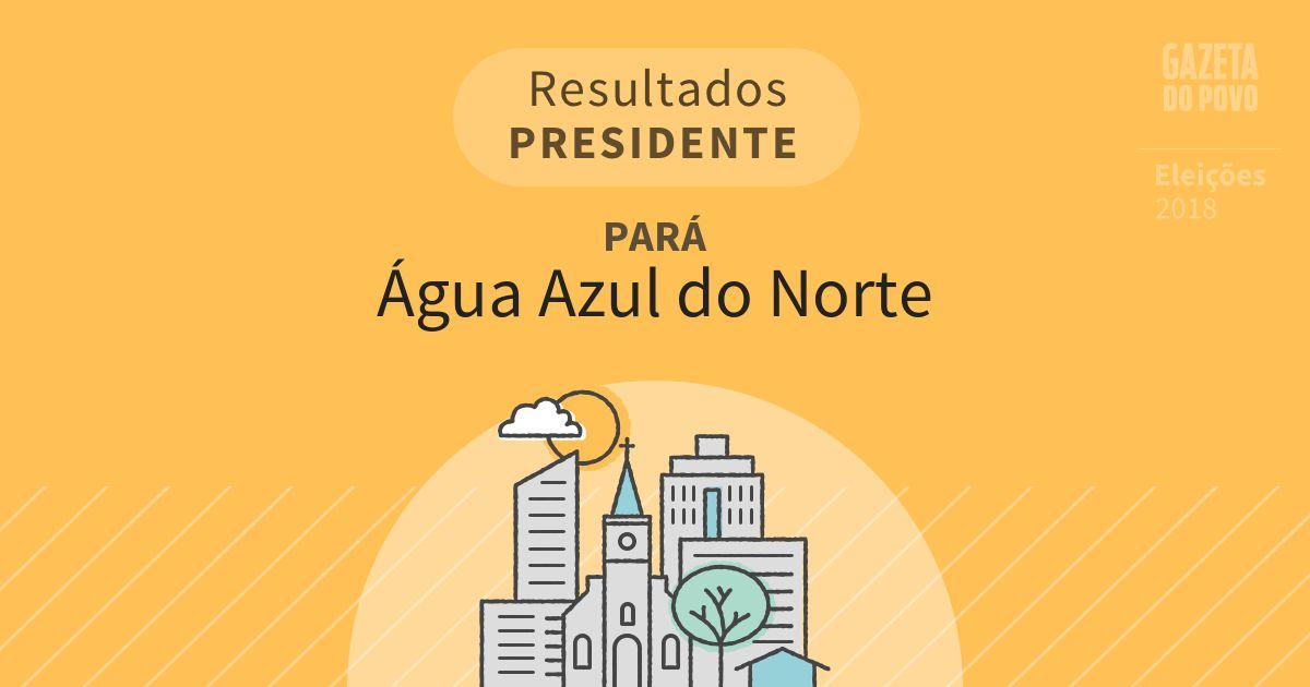Resultados para Presidente no Pará em Água Azul do Norte (PA)
