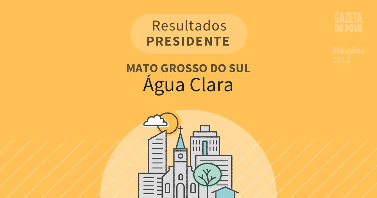 Resultados para Presidente no Mato Grosso do Sul em Água Clara (MS)