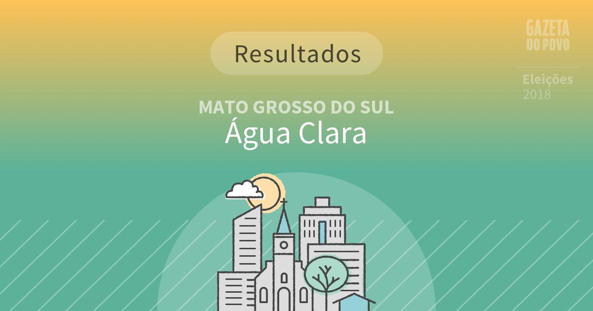 Resultados da votação em Água Clara (MS)