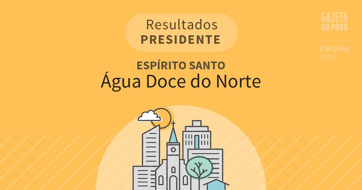 Resultados para Presidente no Espírito Santo em Água Doce do Norte (ES)