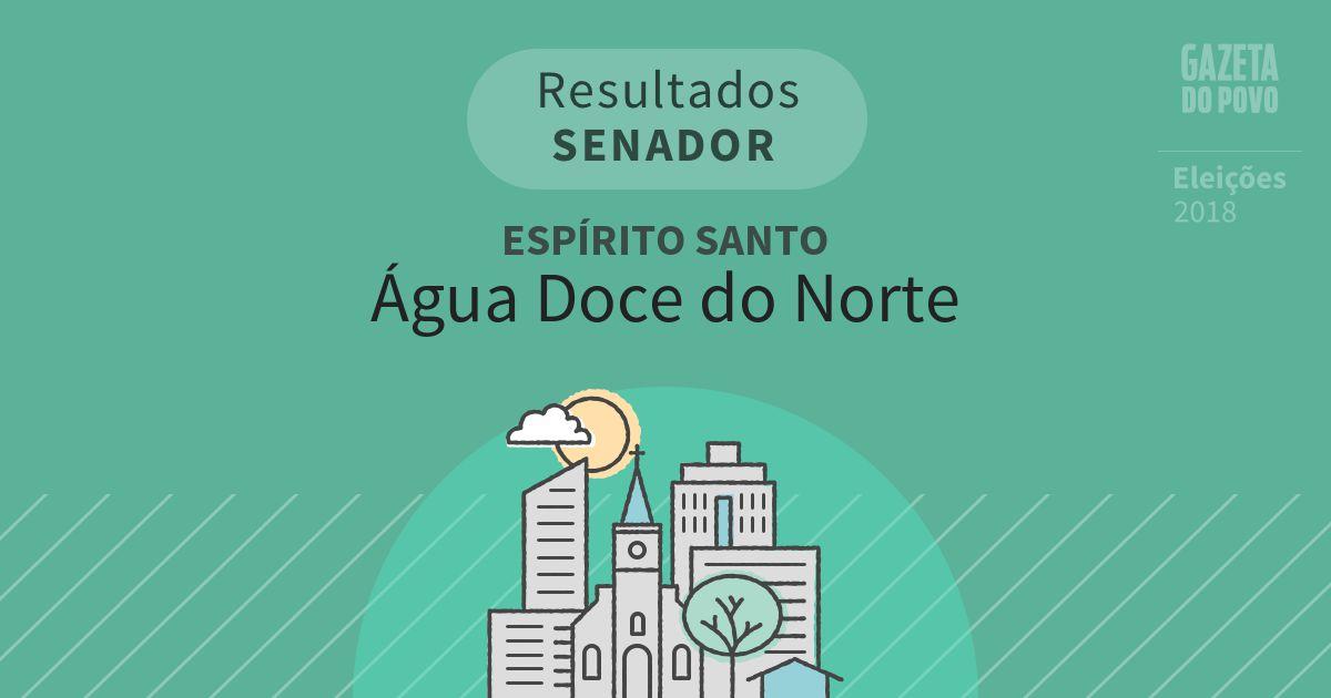Resultados para Senador no Espírito Santo em Água Doce do Norte (ES)