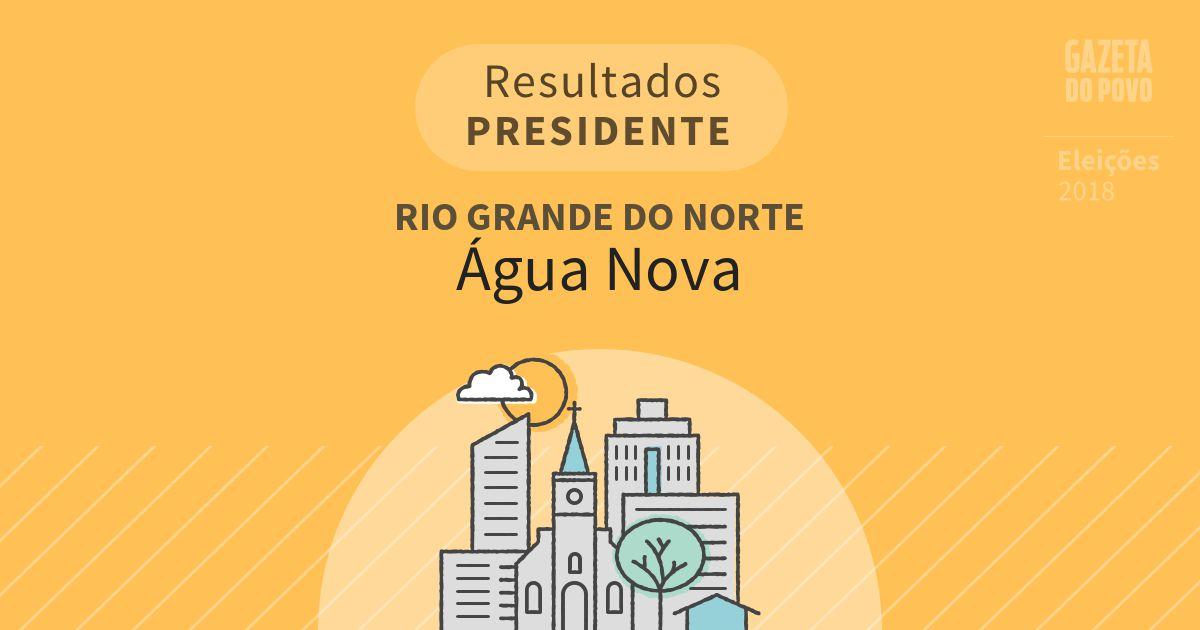 Resultados para Presidente no Rio Grande do Norte em Água Nova (RN)