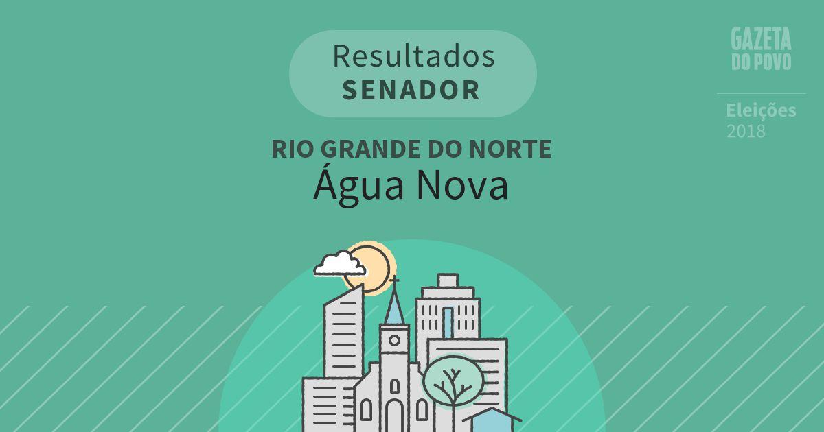 Resultados para Senador no Rio Grande do Norte em Água Nova (RN)