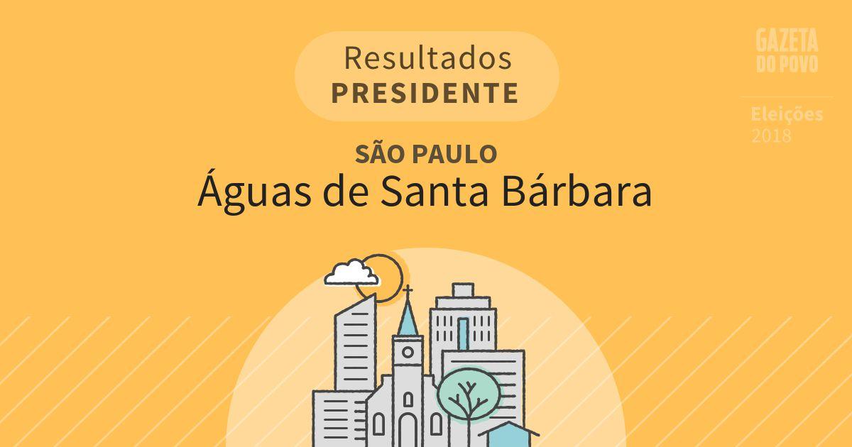 Resultados para Presidente em São Paulo em Águas de Santa Bárbara (SP)