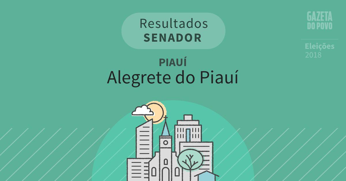 Resultados para Senador no Piauí em Alegrete do Piauí (PI)