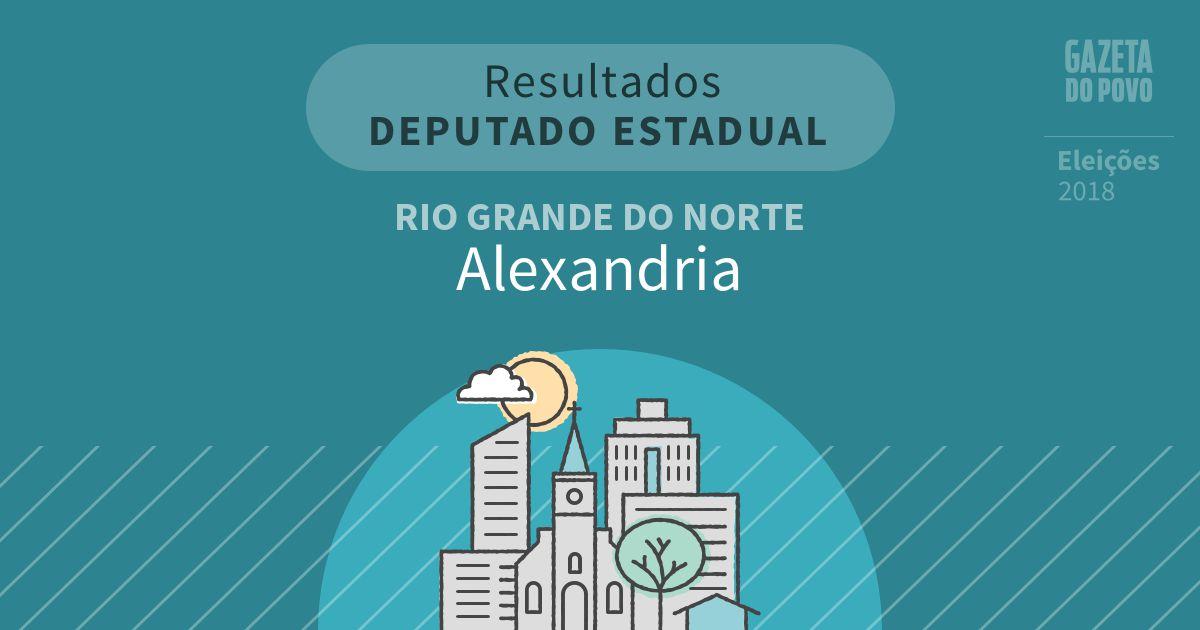 Resultados para Deputado Estadual no Rio Grande do Norte em Alexandria (RN)