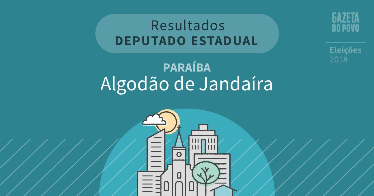 Resultados para Deputado Estadual na Paraíba em Algodão de Jandaíra (PB)
