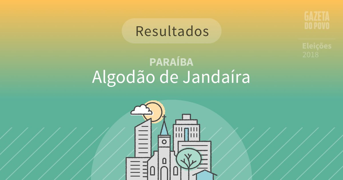 Resultados da votação em Algodão de Jandaíra (PB)