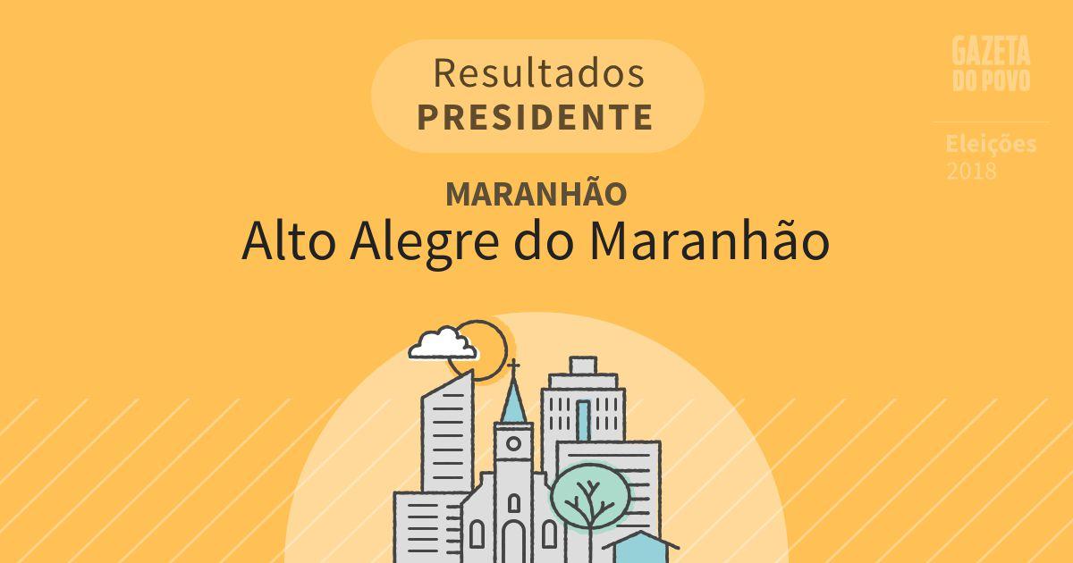 Resultados para Presidente no Maranhão em Alto Alegre do Maranhão (MA)