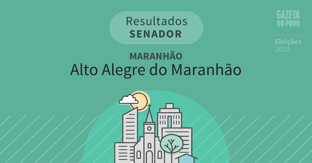 Resultados para Senador no Maranhão em Alto Alegre do Maranhão (MA)
