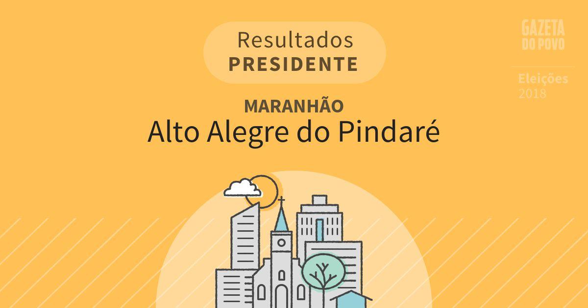Resultados para Presidente no Maranhão em Alto Alegre do Pindaré (MA)