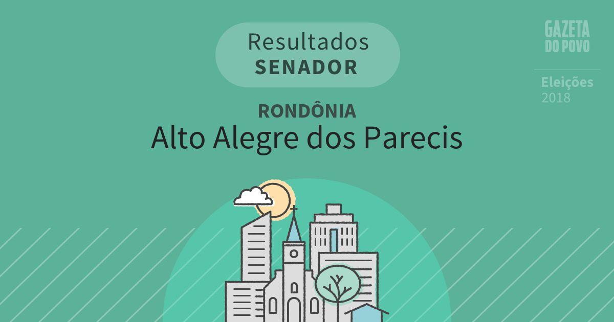 Resultados para Senador em Rondônia em Alto Alegre dos Parecis (RO)