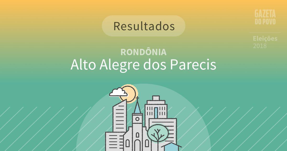 Resultados da votação em Alto Alegre dos Parecis (RO)
