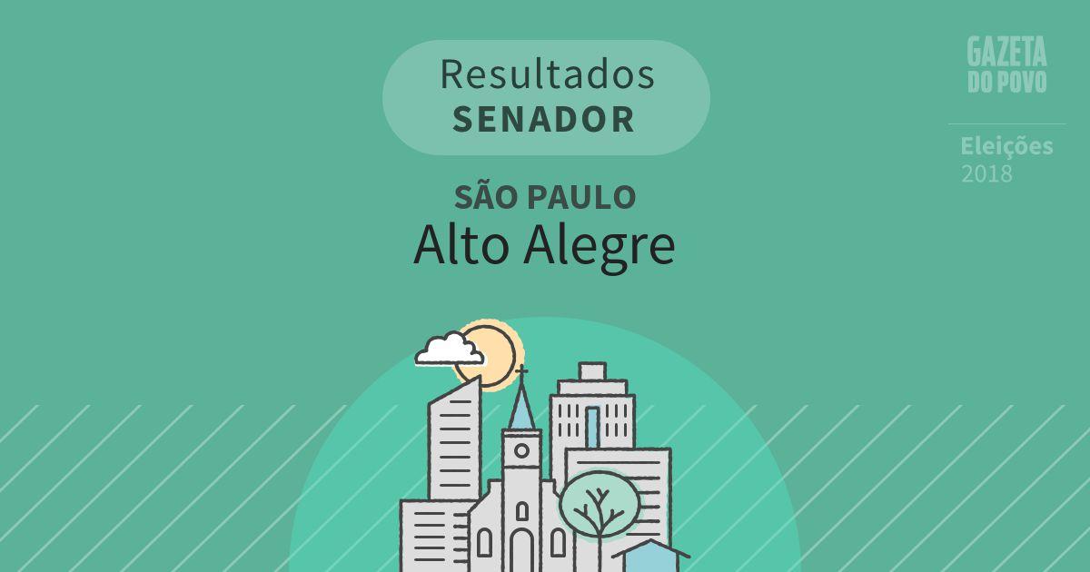 Resultados para Senador em São Paulo em Alto Alegre (SP)