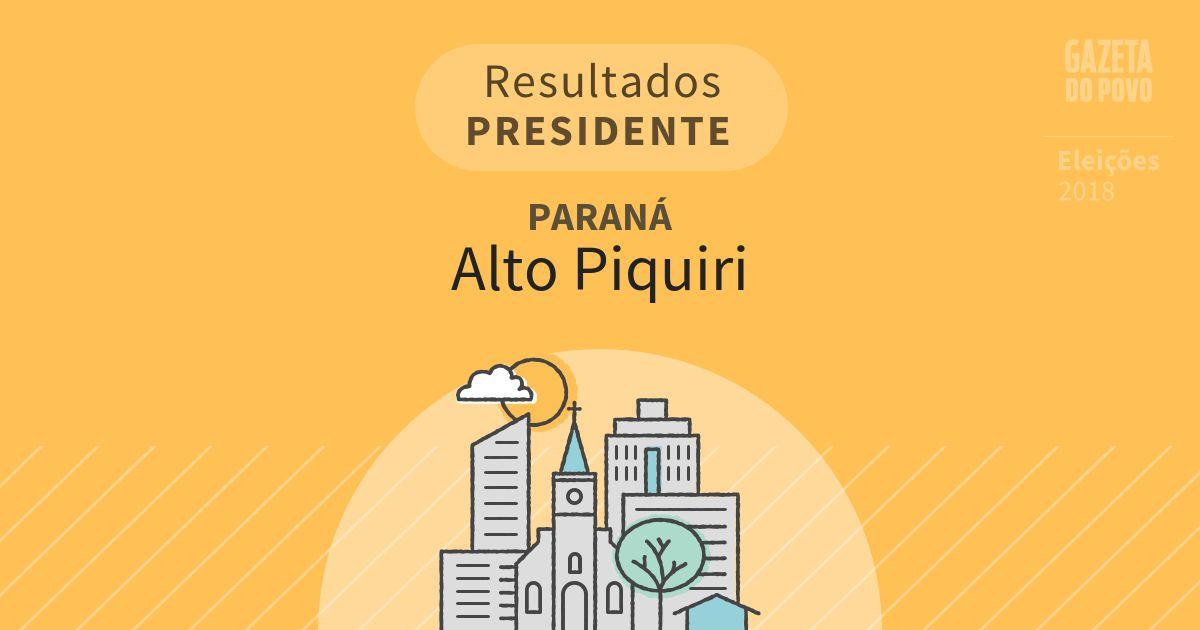 Resultados para Presidente no Paraná em Alto Piquiri (PR)