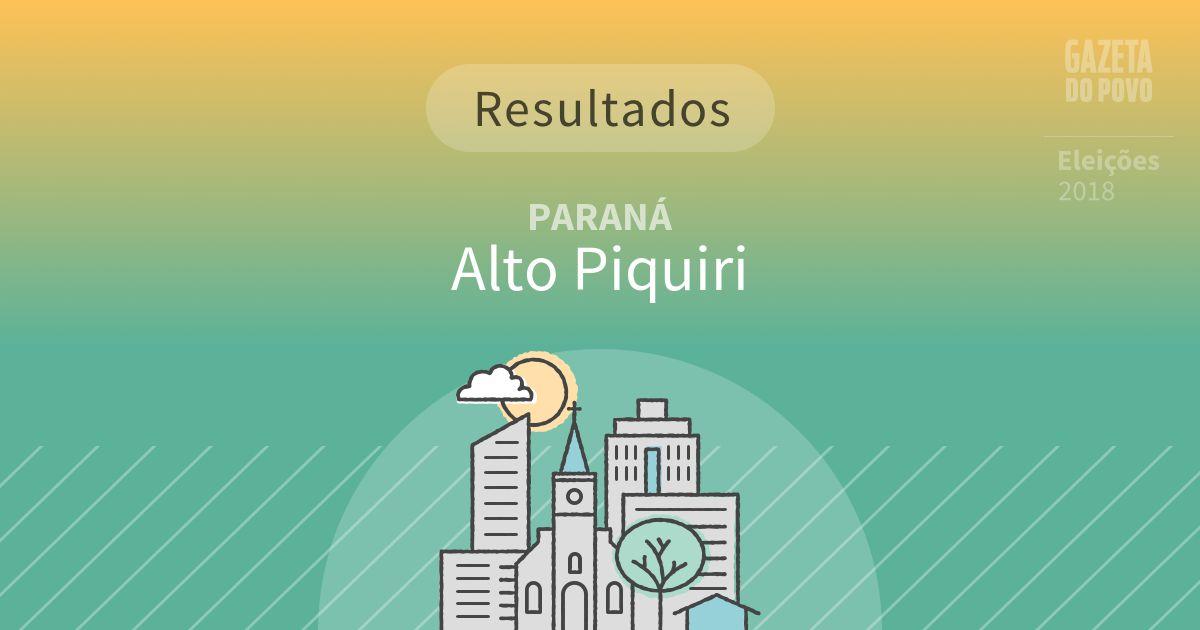 Resultados da votação em Alto Piquiri (PR)