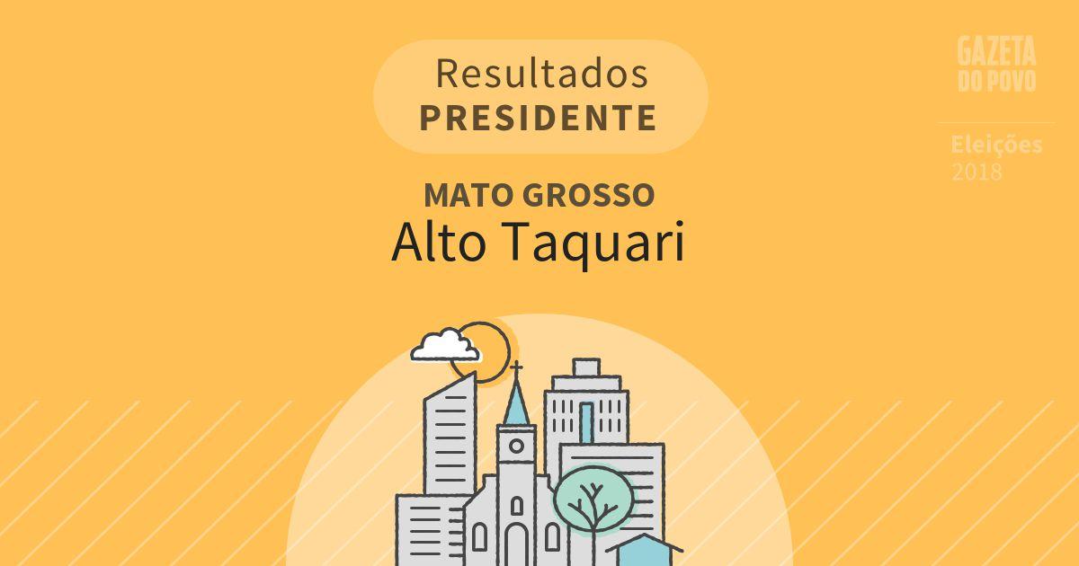 Resultados para Presidente no Mato Grosso em Alto Taquari (MT)