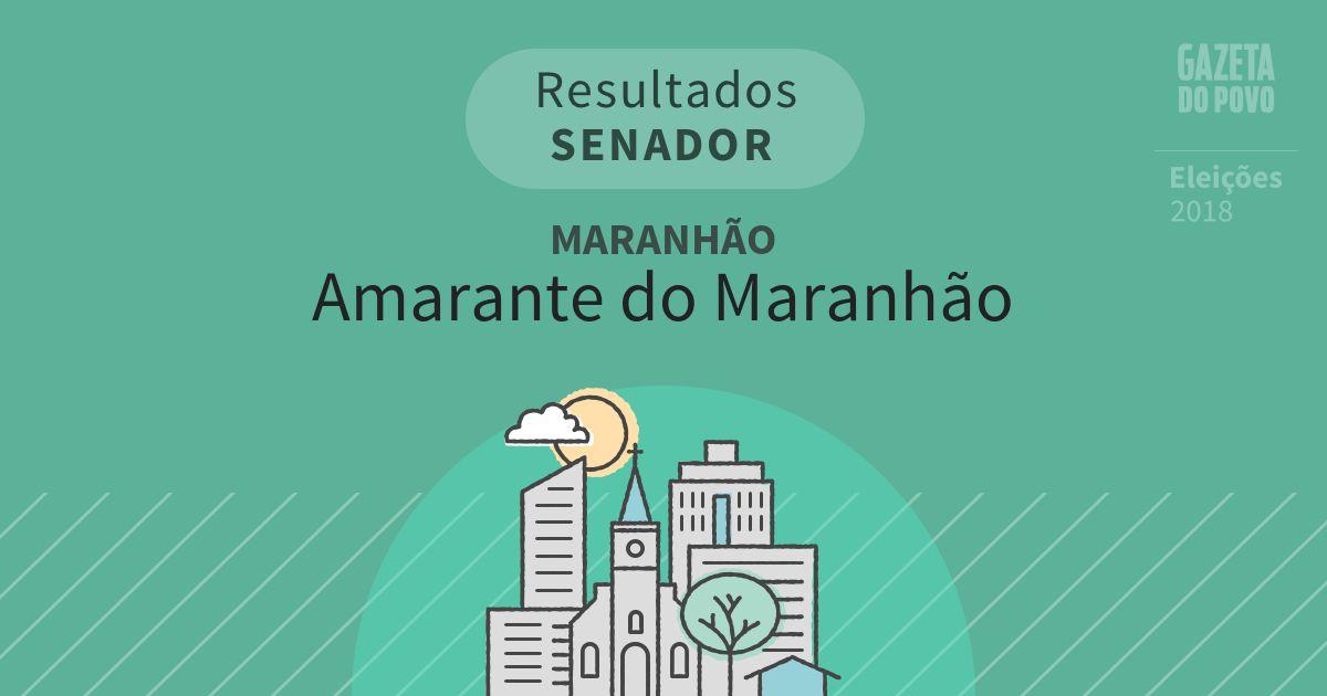 Resultados para Senador no Maranhão em Amarante do Maranhão (MA)