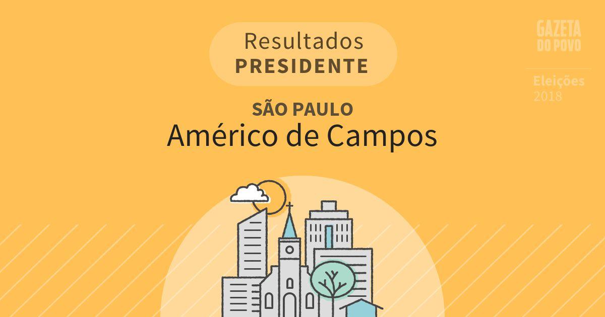 Resultados para Presidente em São Paulo em Américo de Campos (SP)