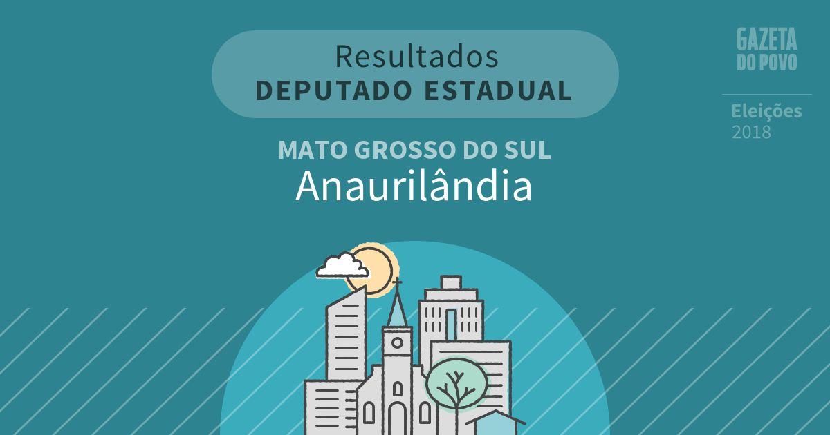 Resultados para Deputado Estadual no Mato Grosso do Sul em Anaurilândia (MS)