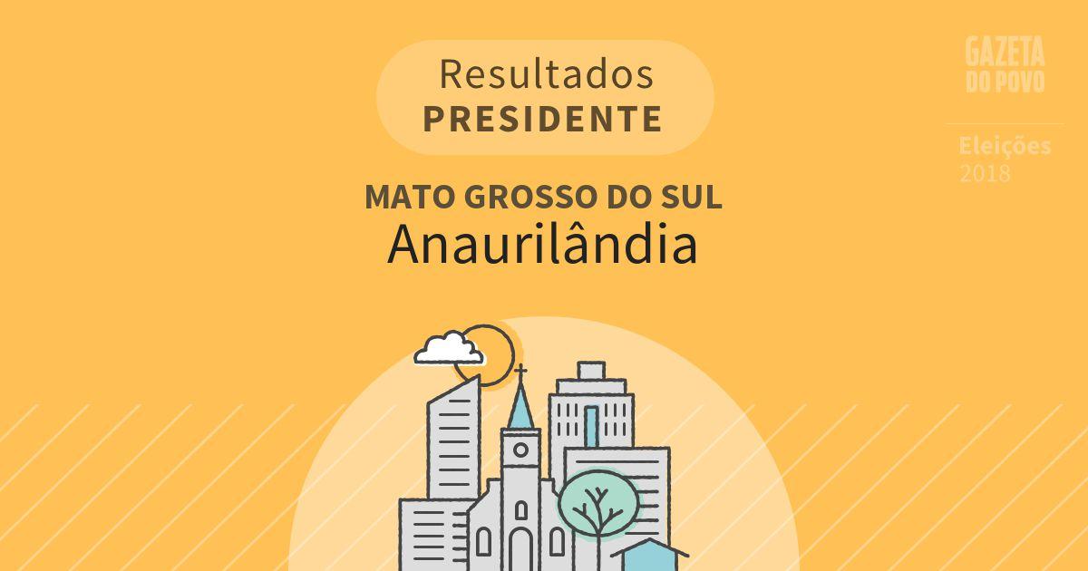 Resultados para Presidente no Mato Grosso do Sul em Anaurilândia (MS)