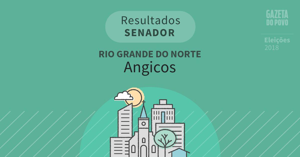 Resultados para Senador no Rio Grande do Norte em Angicos (RN)