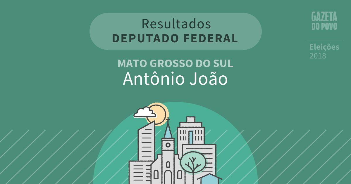 Resultados para Deputado Federal no Mato Grosso do Sul em Antônio João (MS)