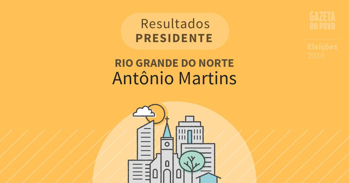 Resultados para Presidente no Rio Grande do Norte em Antônio Martins (RN)