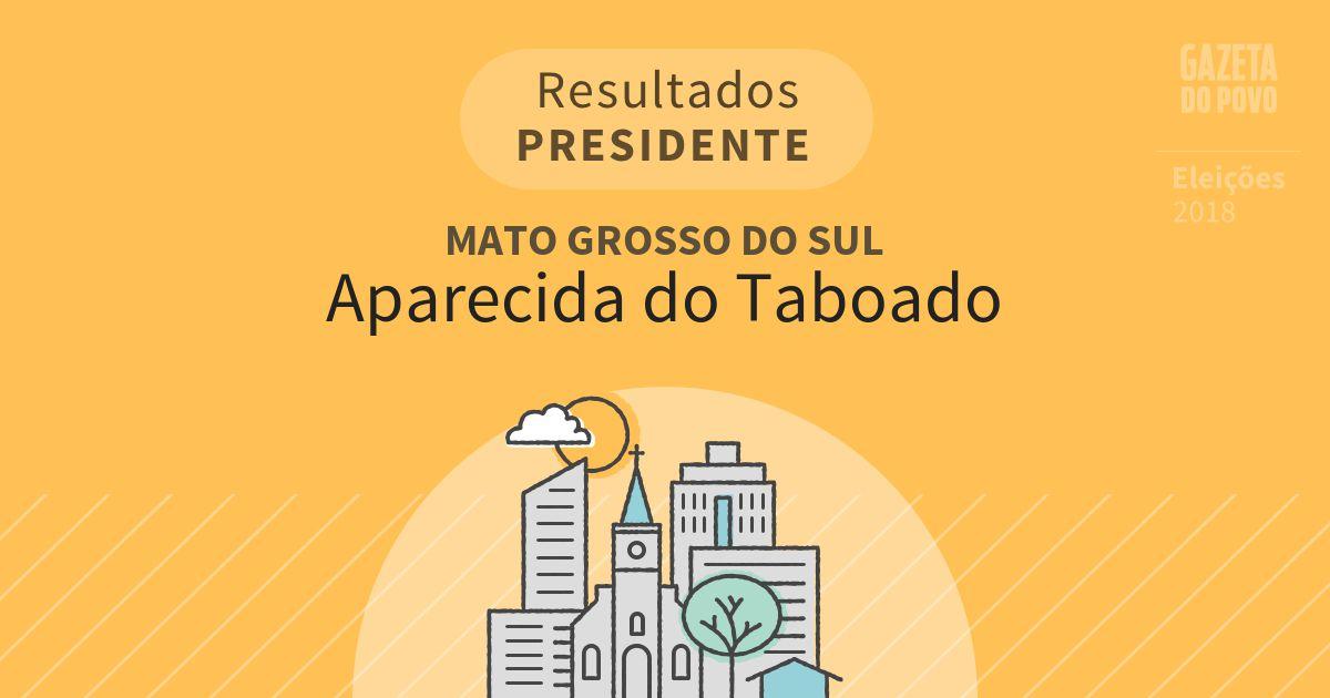 Resultados para Presidente no Mato Grosso do Sul em Aparecida do Taboado (MS)