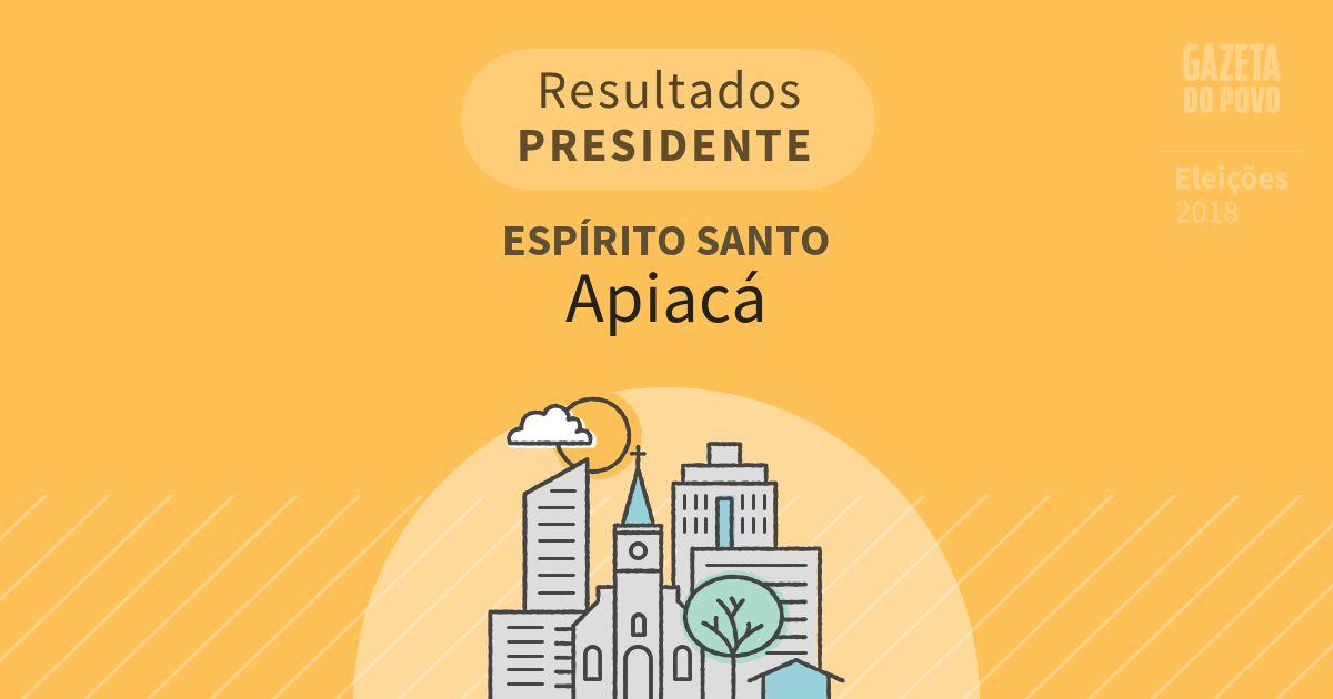 Resultados para Presidente no Espírito Santo em Apiacá (ES)