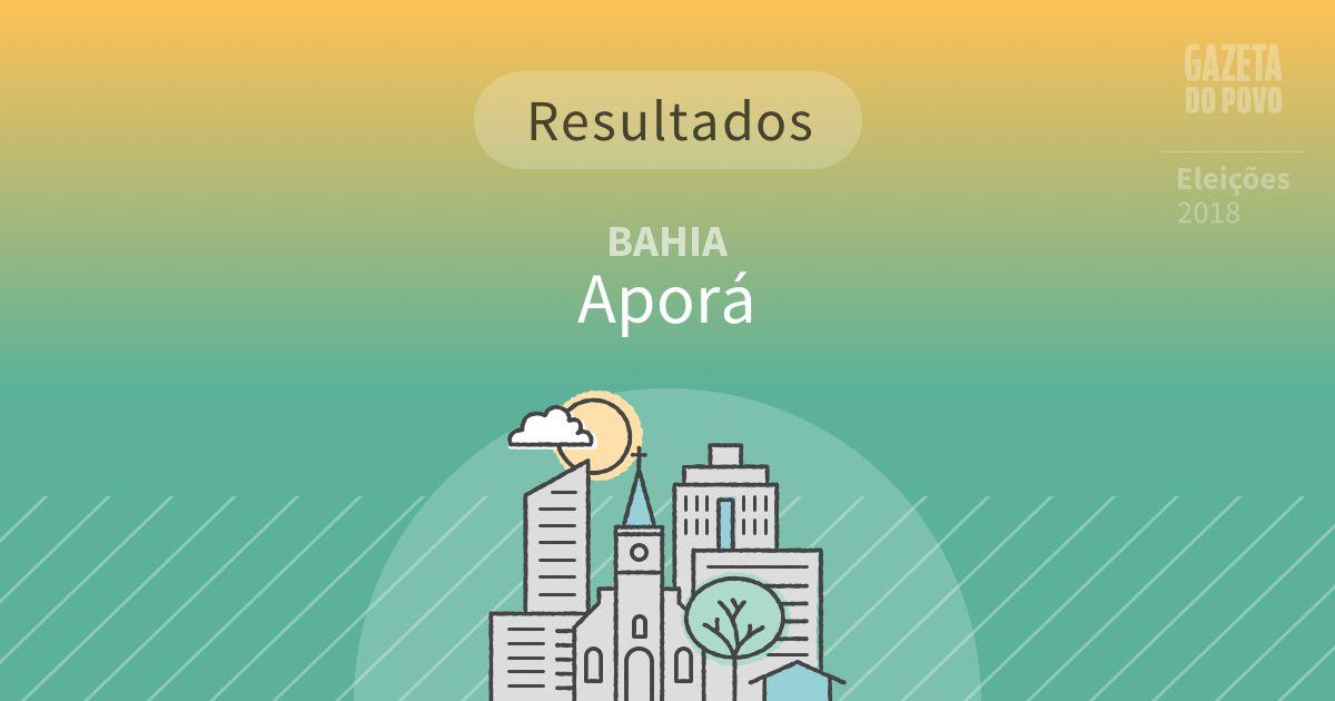 Resultados da votação em Aporá (BA)