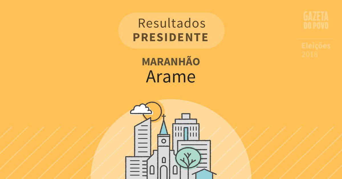 Resultados para Presidente no Maranhão em Arame (MA)