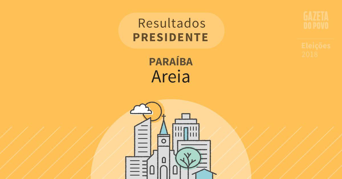 Resultados para Presidente na Paraíba em Areia (PB)