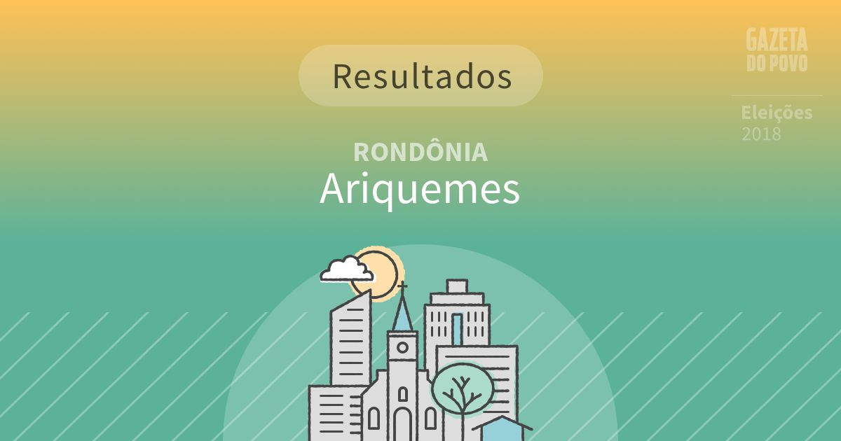Resultados da votação em Ariquemes (RO)