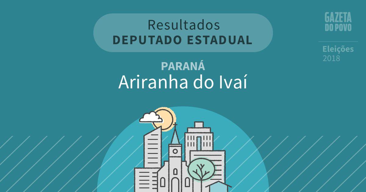 Resultados para Deputado Estadual no Paraná em Ariranha do Ivaí (PR)