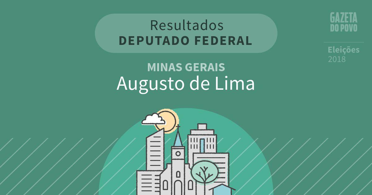 Resultados para Deputado Federal em Minas Gerais em Augusto de Lima (MG)