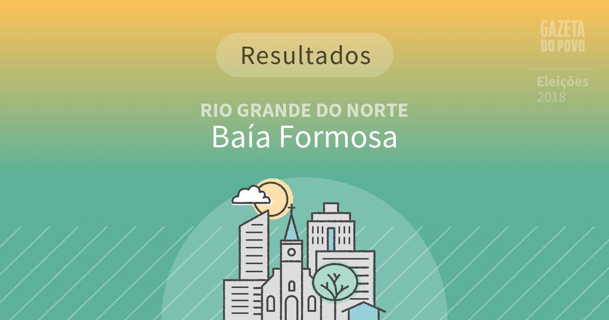 Resultados da votação em Baía Formosa (RN)