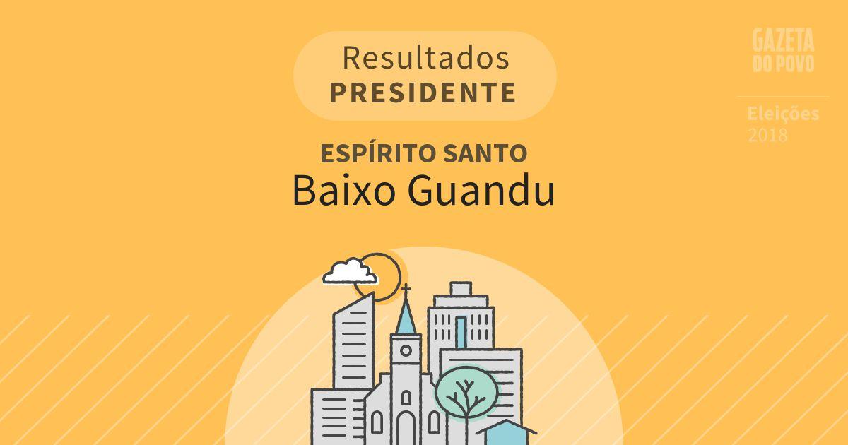 Resultados para Presidente no Espírito Santo em Baixo Guandu (ES)