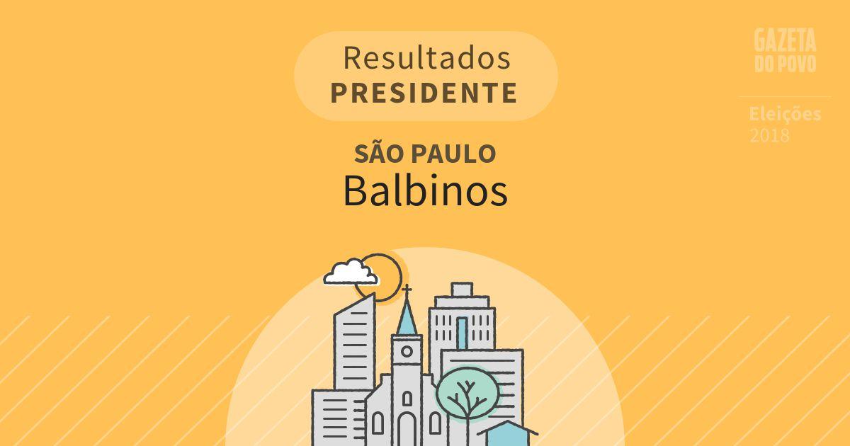 Resultados para Presidente em São Paulo em Balbinos (SP)