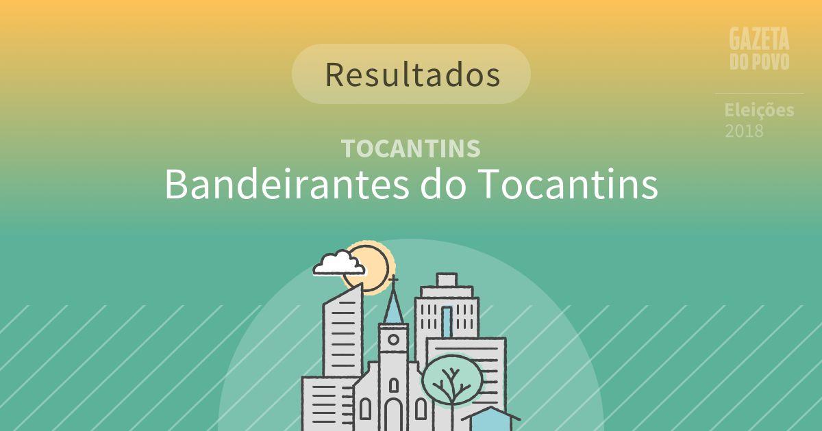 Resultados da votação em Bandeirantes do Tocantins (TO)