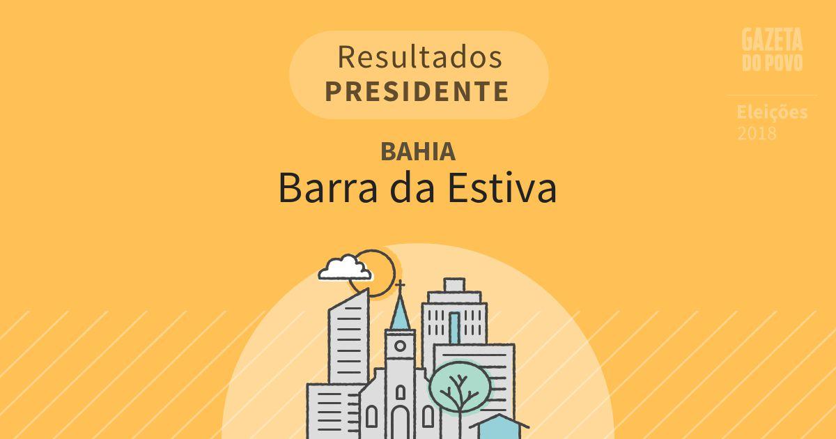 Resultados para Presidente na Bahia em Barra da Estiva (BA)