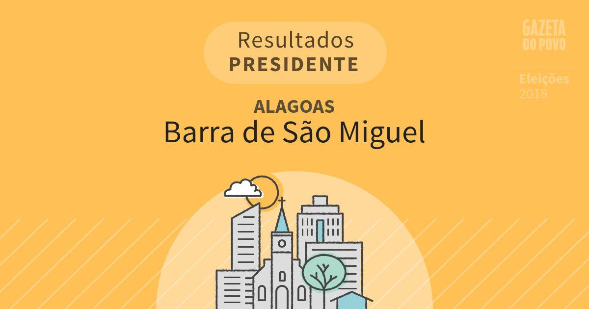 Resultados para Presidente em Alagoas em Barra de São Miguel (AL)