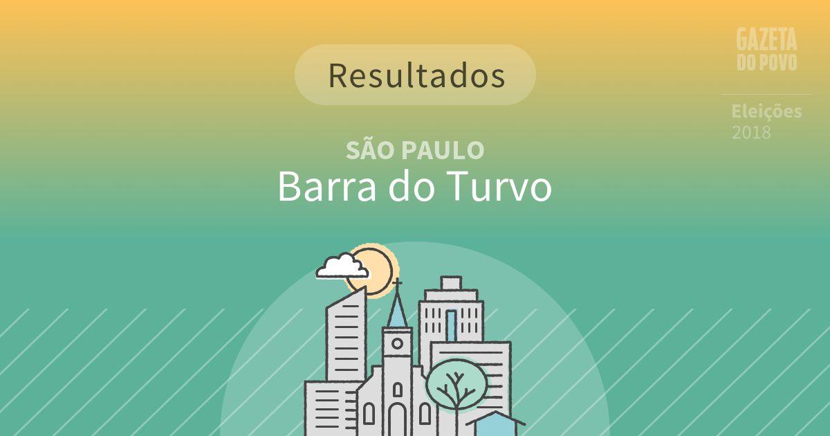 Resultados da votação em Barra do Turvo (SP)