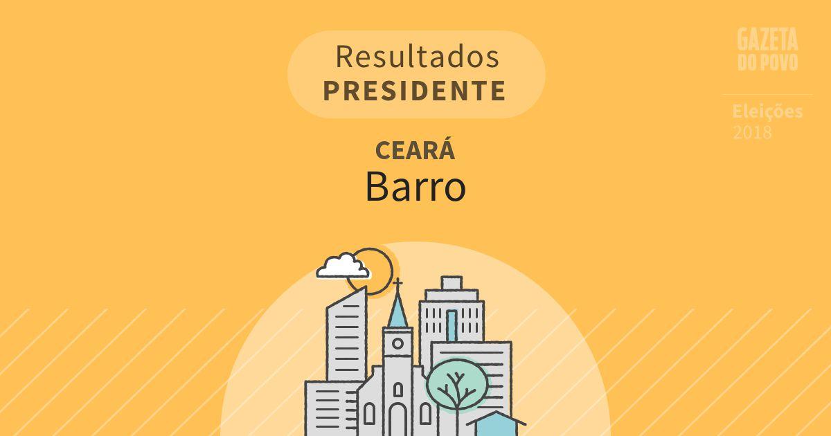 Resultados para Presidente no Ceará em Barro (CE)