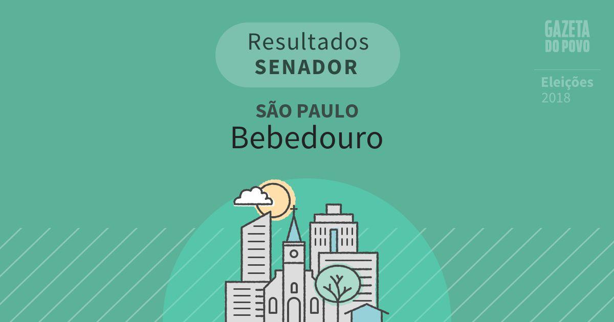 Resultados para Senador em São Paulo em Bebedouro (SP)