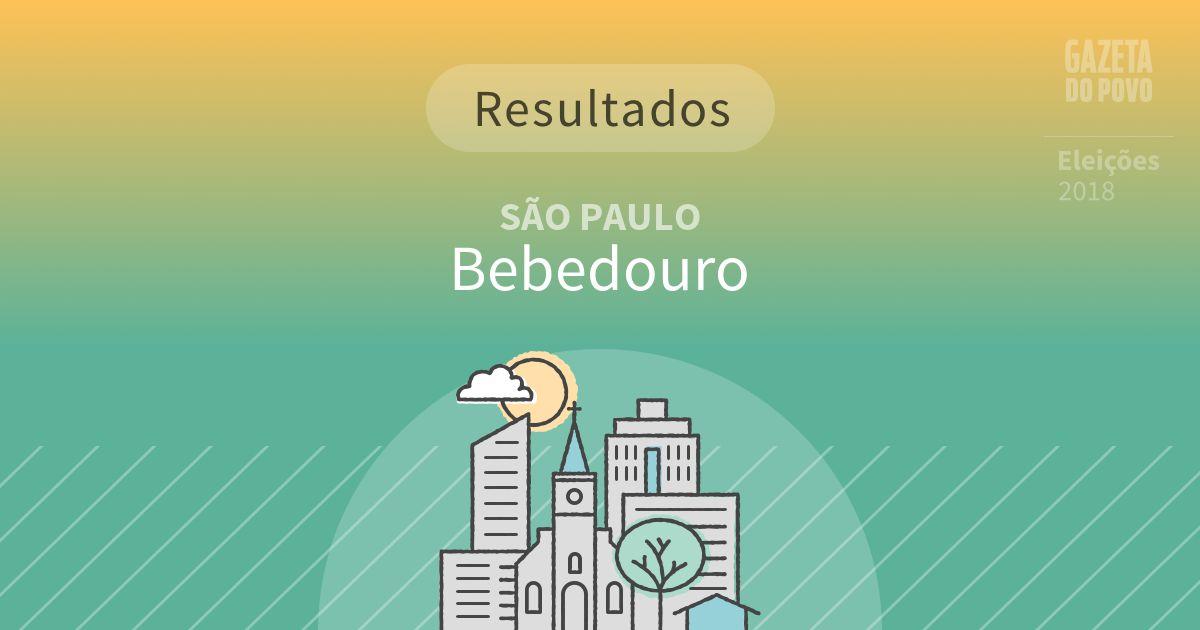 Resultados da votação em Bebedouro (SP)